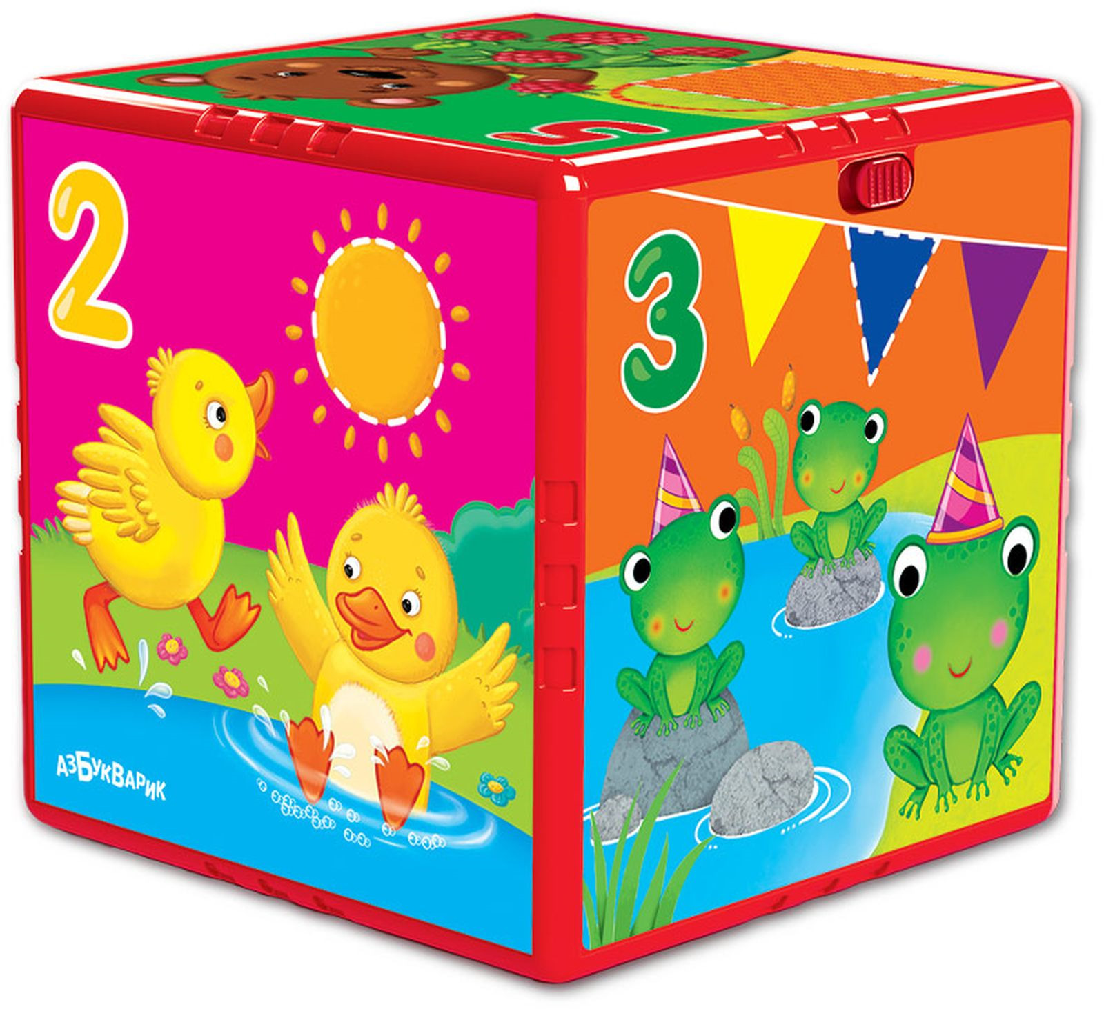 Музыкальная игрушка Азбукварик Говорящий кубик Счет, формы, цвета, 2046 азбукварик двухсторонний говорящий плакат азбукварик азбука и счет