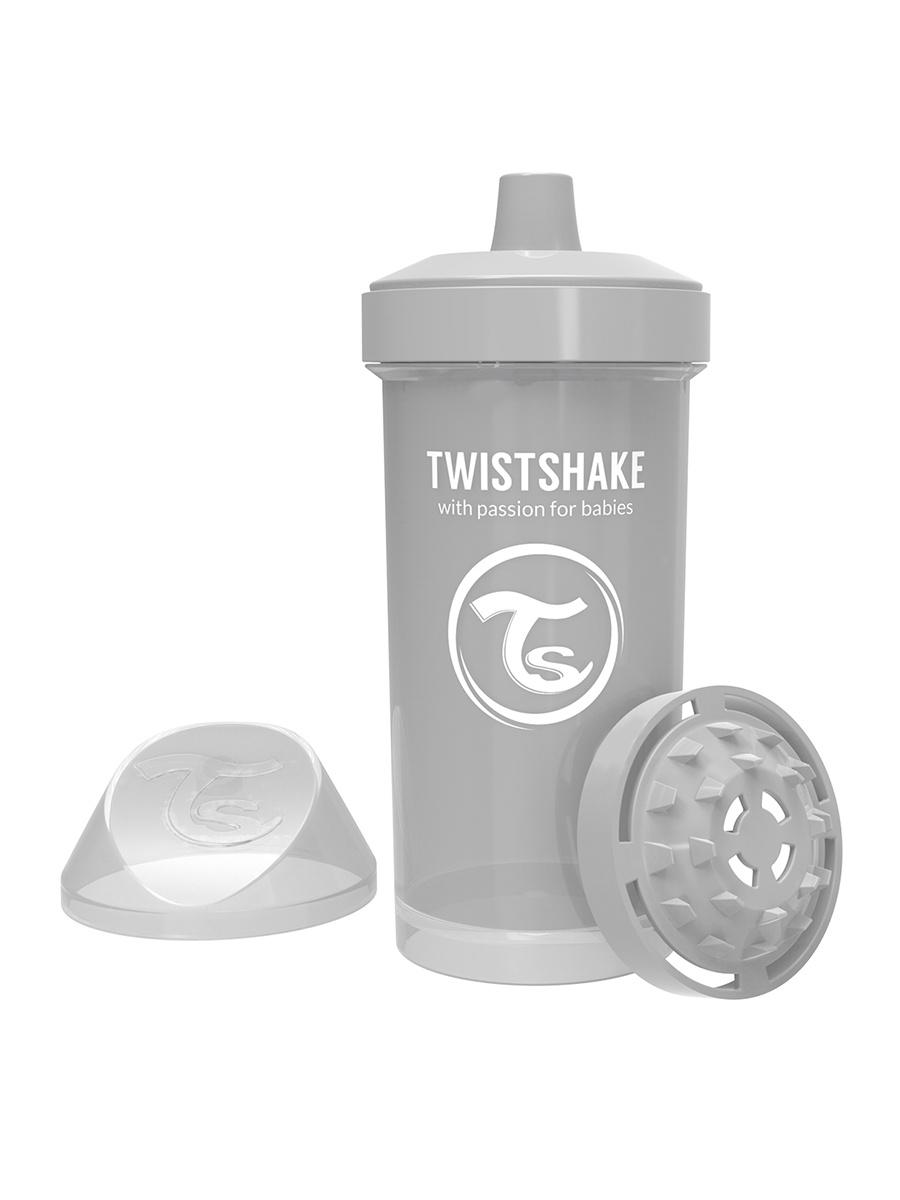 Поильник Twistshake Pastel Grey, цвет: серый, 360 мл
