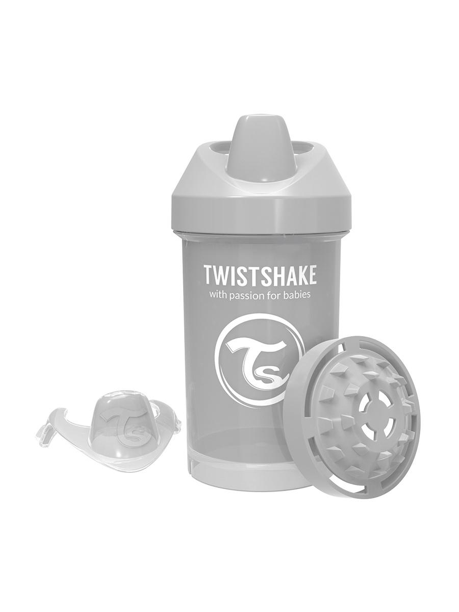 Поильник Twistshake Pastel Grey, цвет: серый, 300 мл