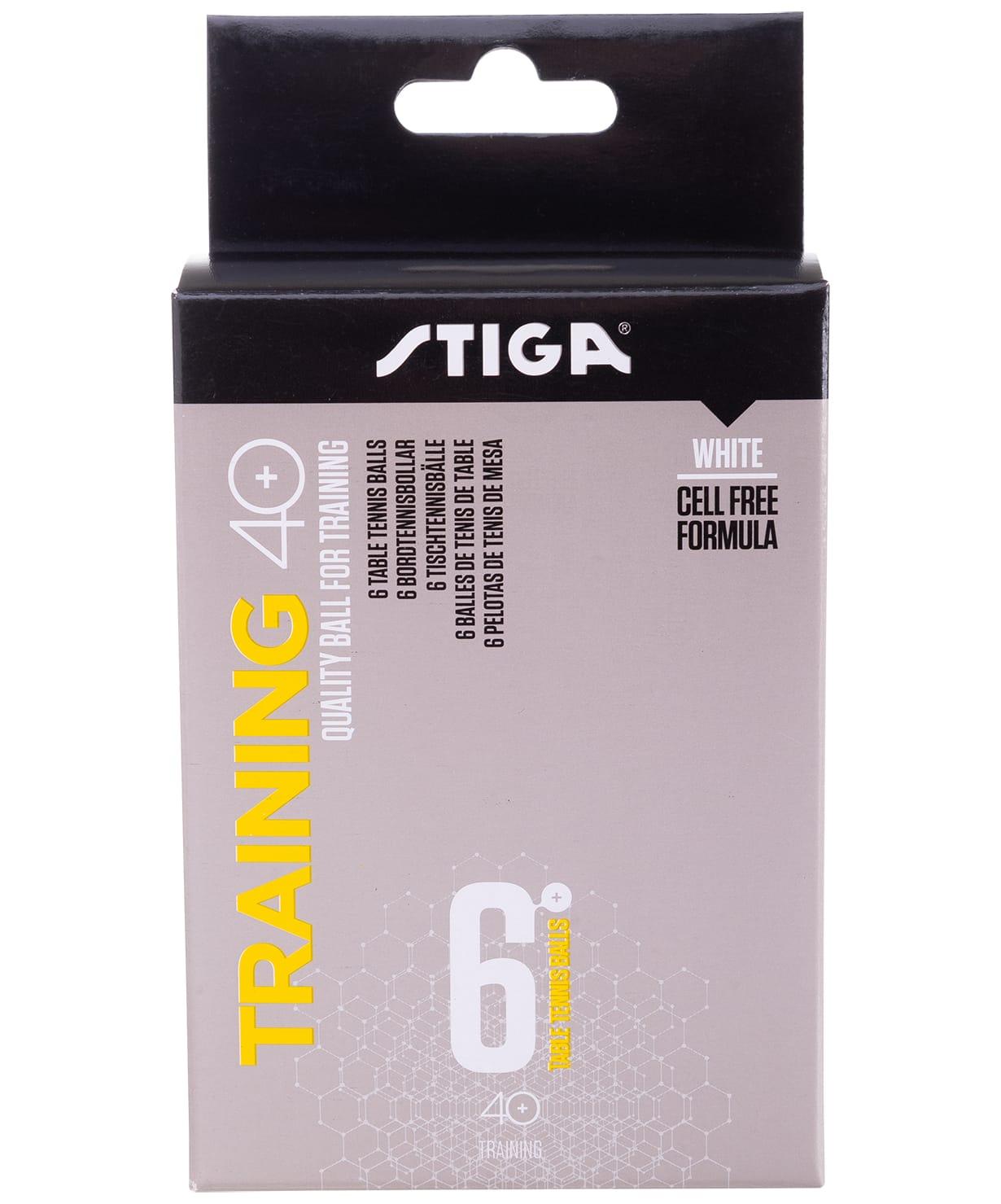 Мяч для настольного тенниса Stiga Training ABS белый (6 шт.)