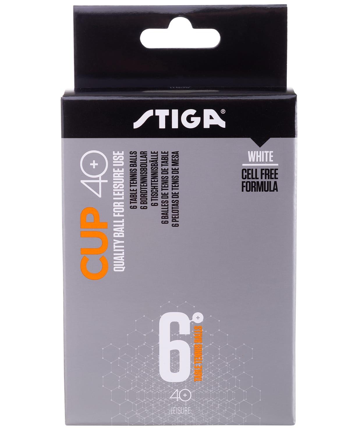 Мяч для настольного тенниса Stiga Cup ABS белый (6 шт.) цена