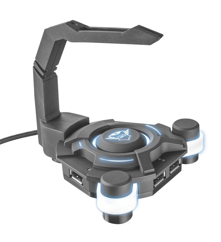 Игровой USB-хаб 20816 Trust GXT 213 4xUSB держатель шнура мыши