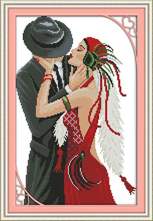 Набор для вышивания NKF The love of dancing girl