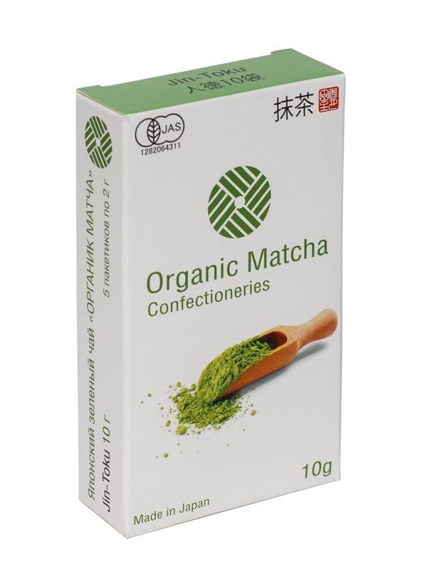 Японский зелёный чай ОРГАНИК Матча JIN-TOKU кулинарный, 10 г (5 шт х 2 г) jin июня mei golden брови уишаньский черный чай распродажа