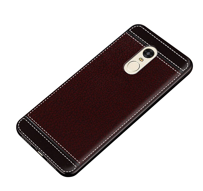Чехол MyPads для Samsung Galaxy S8 Plus из силикона с дизайном под кожу коричневый