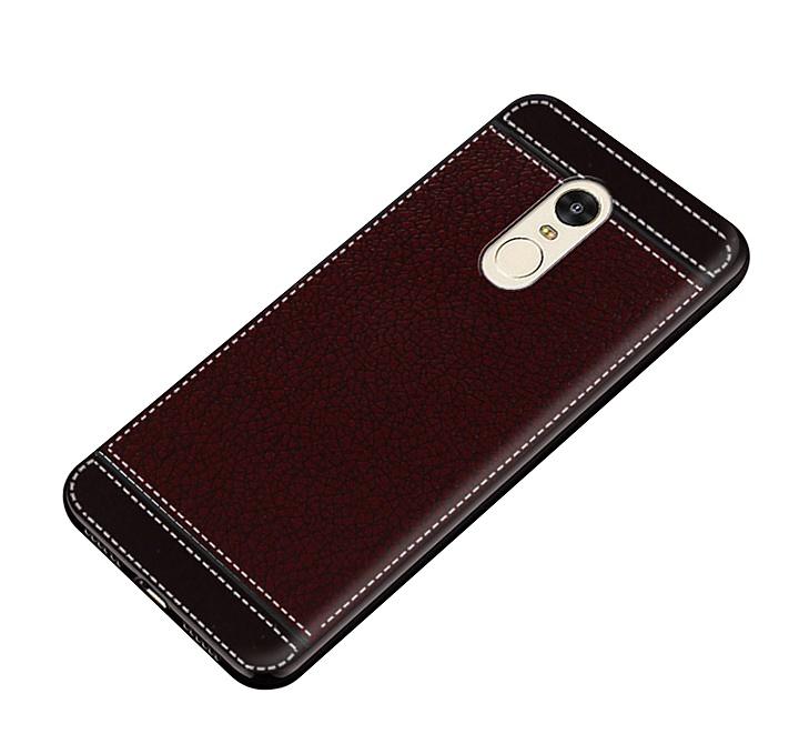 Чехол MyPads для Samsung Galaxy C5 Pro из силикона с дизайном под кожу коричневый