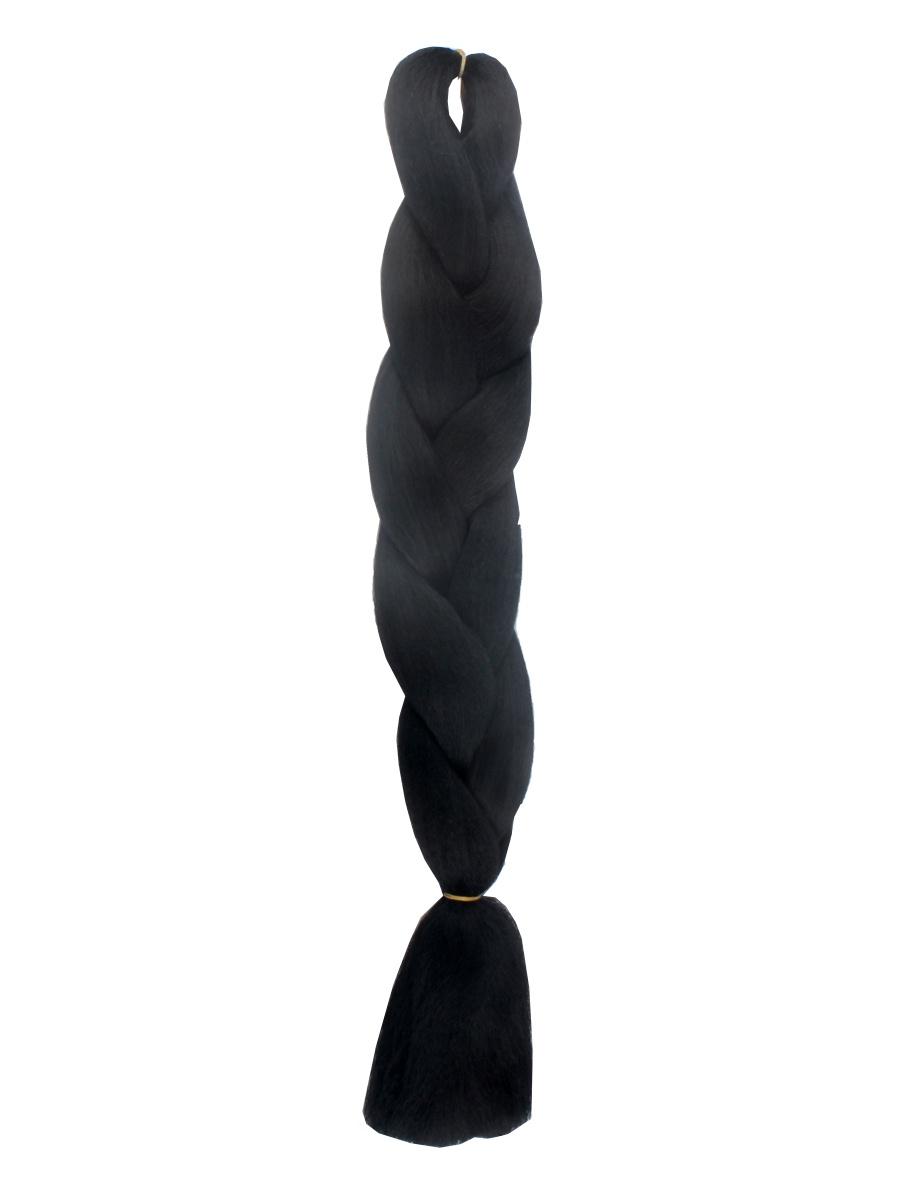 Канекалон одноцветный OD01, 60см, L. A. G. , цвет черный L.A.G.