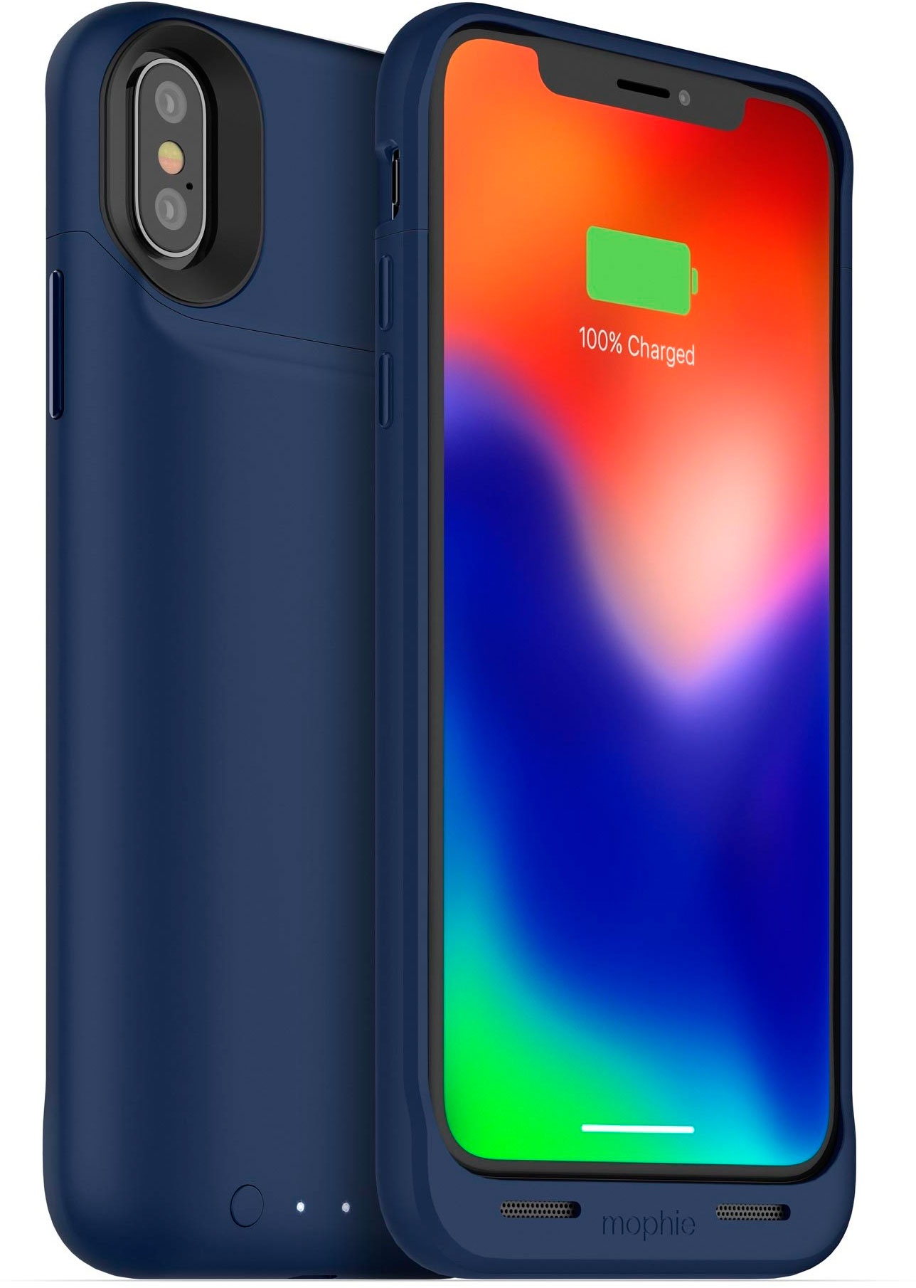 Чехол Mophie Juice Pack Air со встроенным аккумулятором для iPhone X, синий стоимость