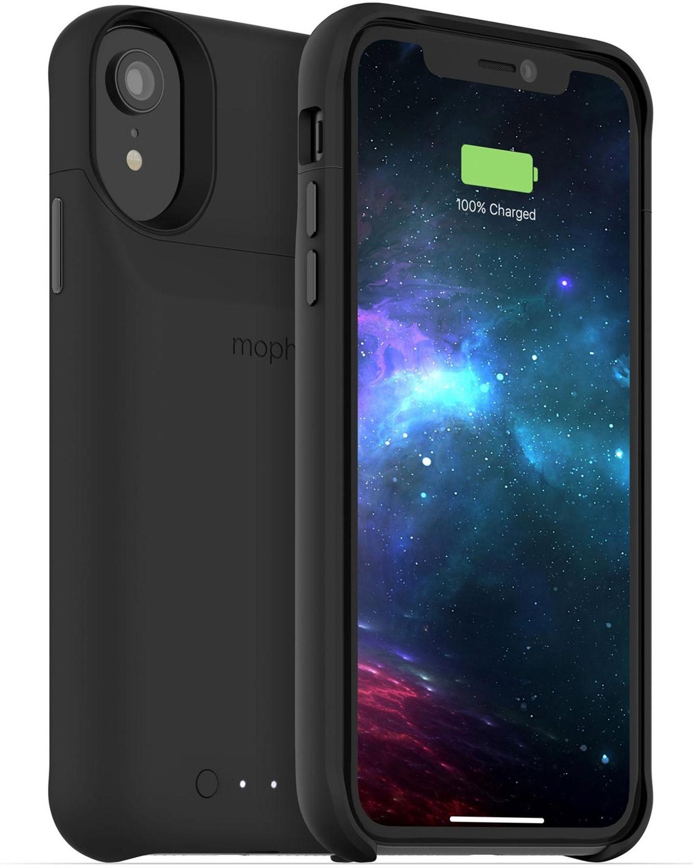 Чехол Mophie Juice Pack Access со встроенным аккумулятором для iPhone XR. Цвет черный. аксессуар чехол аккумулятор mophie juice pack air 2525 mah для apple iphone 7 red 3970