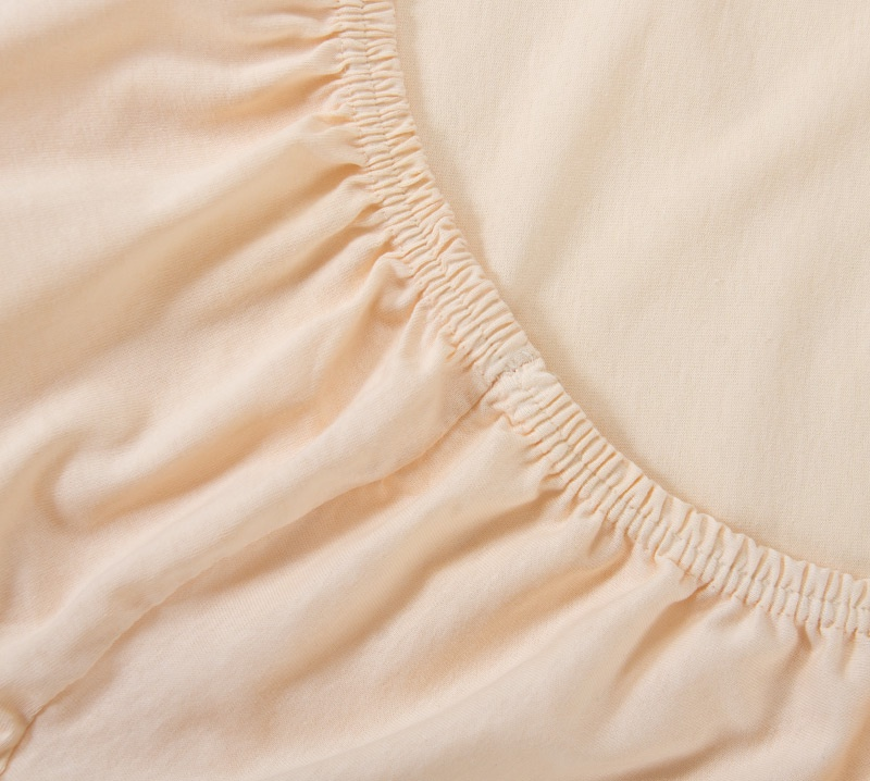 Простыня Ricotio трикотажная на резинке 90х200х20, цвет кремовый кремовый простыни арт постель простынь трикотажная на резинке бирюза 120 200 см