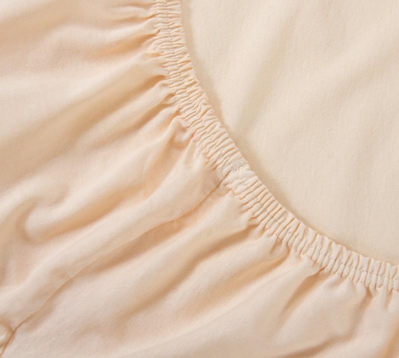 Простыня Ricotio трикотажная на резинке 180х200х20, цвет кремовый кремовый простыни арт постель простынь трикотажная на резинке бирюза 120 200 см