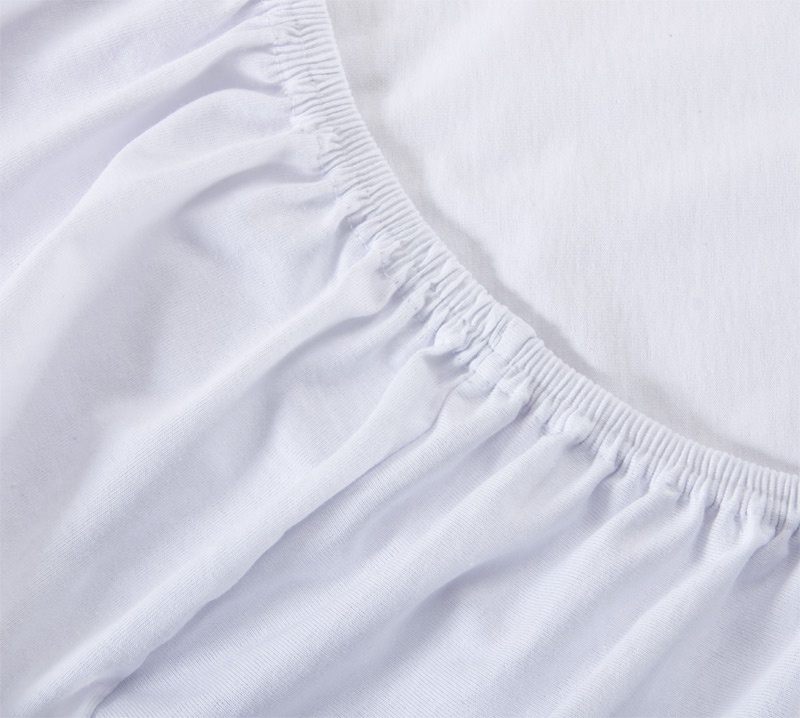 Простыня Ricotio трикотажная на резинке 200х200х20, цвет белый белый простыни арт постель простынь трикотажная на резинке звезды розовые 120 200 см