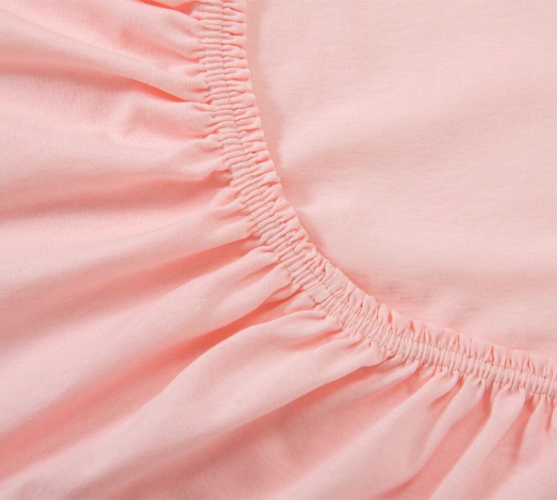 Простыня Ricotio трикотажная на резинке 140х200х20, цвет розовый розовый простыни арт постель простынь трикотажная на резинке незабудка 120 200 см