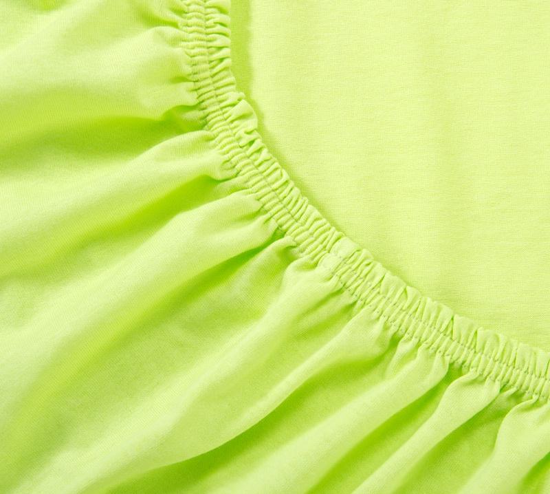 Простыня Ricotio трикотажная на резинке 160х200х20, цвет салатовый салатовый простыни арт постель простынь трикотажная на резинке мотылек 120 200 см