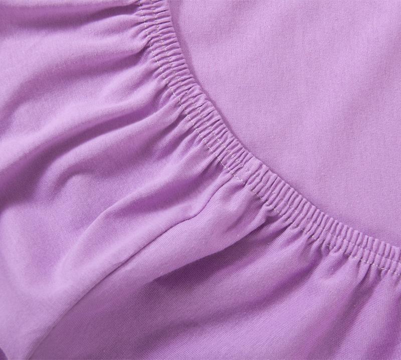 Простыня Ricotio трикотажная на резинке 120х200х20, цвет сиреневый сиреневый простыни арт постель простынь трикотажная на резинке бирюза 120 200 см