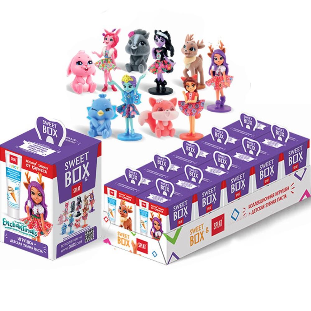 Детская зубная паста SPLAT в наборе с игрушкой 10 штук веледа паста детская