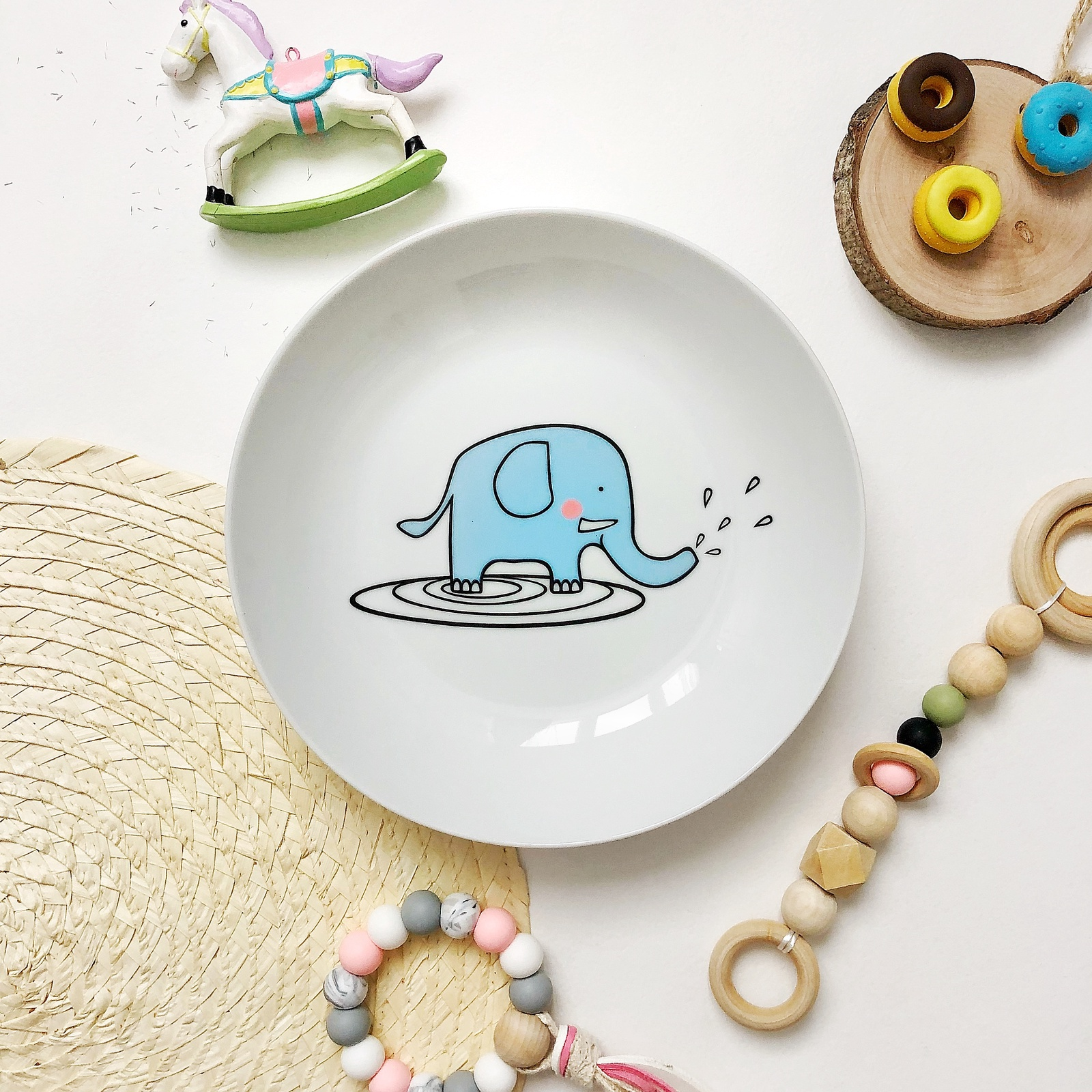 Тарелка глубокая Слон Бубон Sans Brides 20 см арт. 0051-00474-000_3 тарелка мелкая сотвори чудо маленький принц faien диаметр 20 см