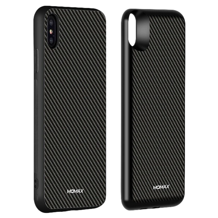 Чехол с аккумулятором Momax: Q.Power Pack 6000mAh для iPhone Xs Max Черно-серый