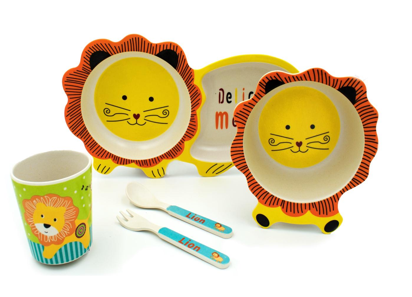 Комплект посуды Baozhiyu Львенок