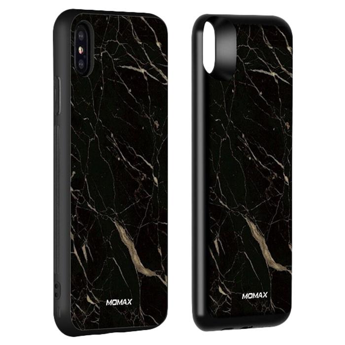 Чехол с аккумулятором Momax: Q.Power Pack 6000mAh для iPhone Xs Max Чёрный мрамор