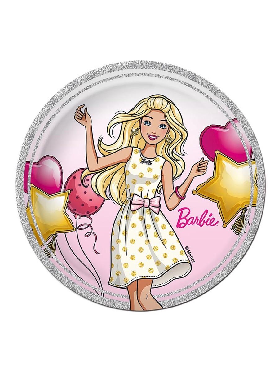 Одноразовая посуда Barbie Тарелка бумажная 180 мм (10 шт)
