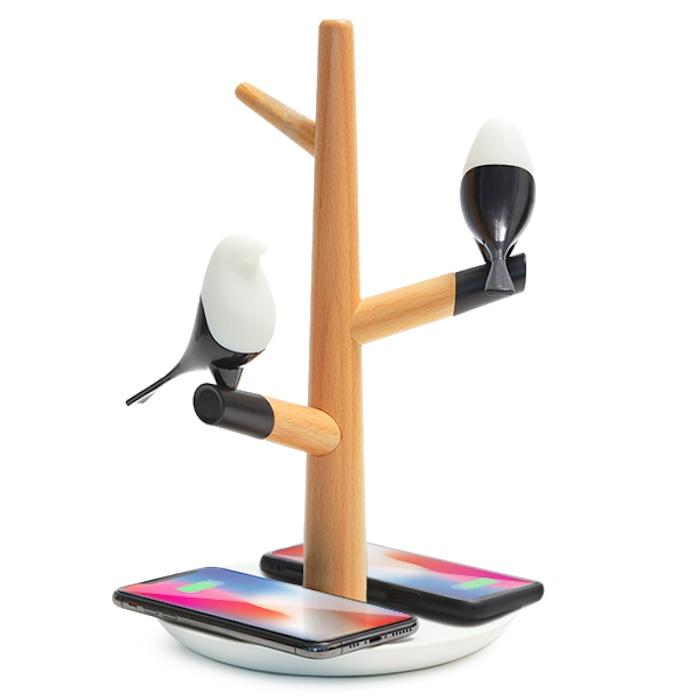 Лампа с беспроводной зарядкой HomeTree-Q2 Белая
