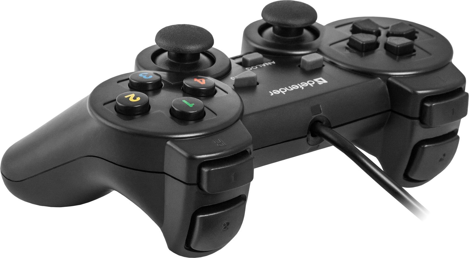 Проводной геймпад Defender Omega USB, 12 кнопок, 2 стика геймпад проводной defender omega usb 12 кнопок 2 стика