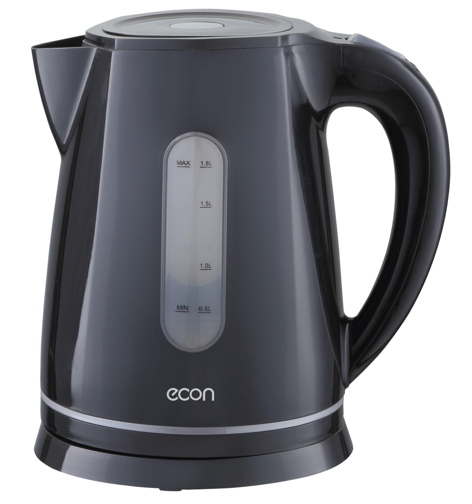 Электрический чайник ECON 1,8л, пластмассовый, с вращающейся подставкой