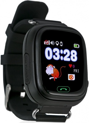 Детские GPS часы Nuobi Q90 (Черный)