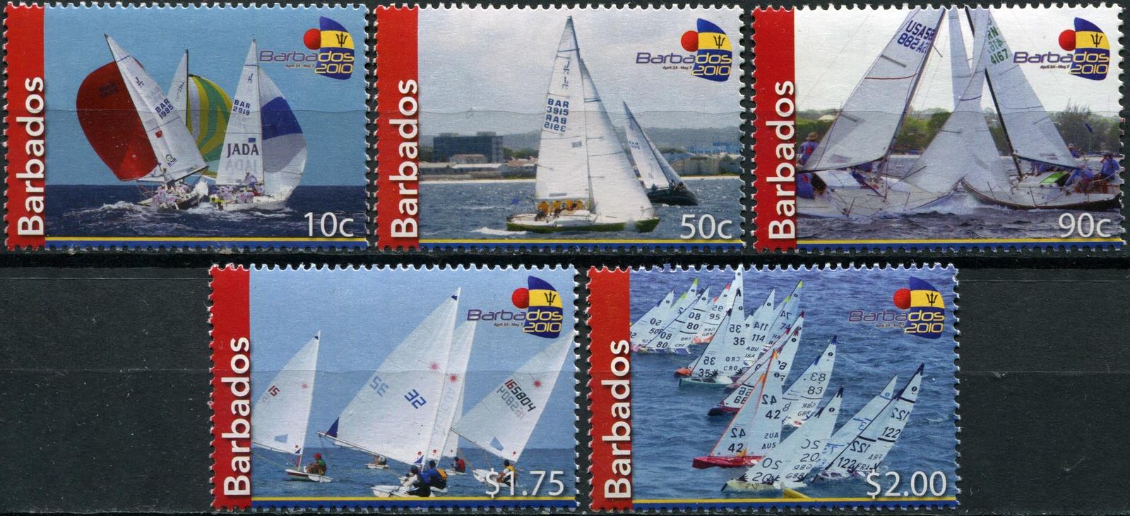 Барбадос. 2010. Парусные лодки (Серия. MNH OG) michel 338761 2010 mittelamerika katalog