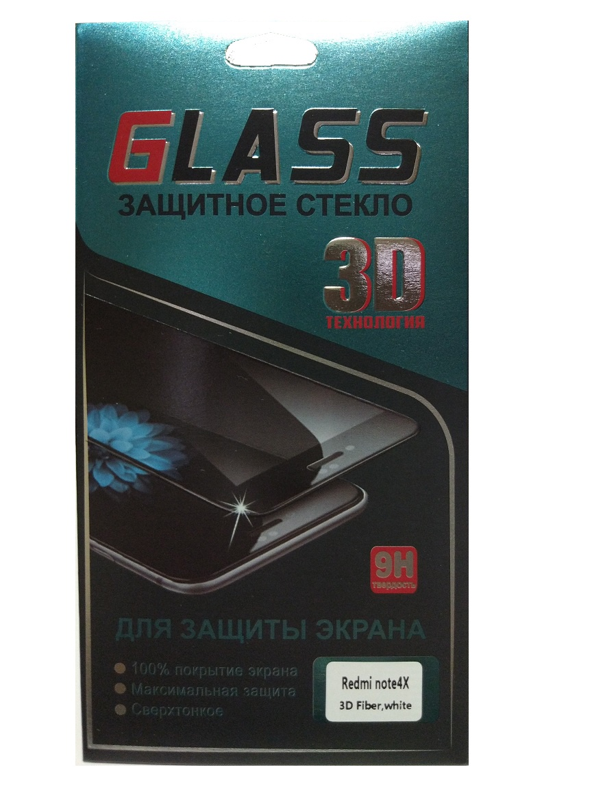 Защитное стекло 3D для Xiaomi Redmi Note 4X (белый) защитное стекло 3d для xiaomi redmi 6 черное