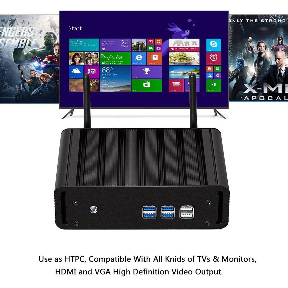 Мини-ПК X31, Intel Core i5-4200U, 4K HDMI (под сборку) Мощный миникомпьютер на основе 2х-4х...