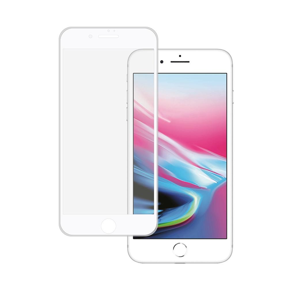 Фото - Защитное стекло HARDIZ Premium Tempered Glass Silicone Frame для iPhone 7 Plus / 8 Plus белое ubear premium tempered glass 2 5d защитное стекло для iphone 6 plus 6s plus clear