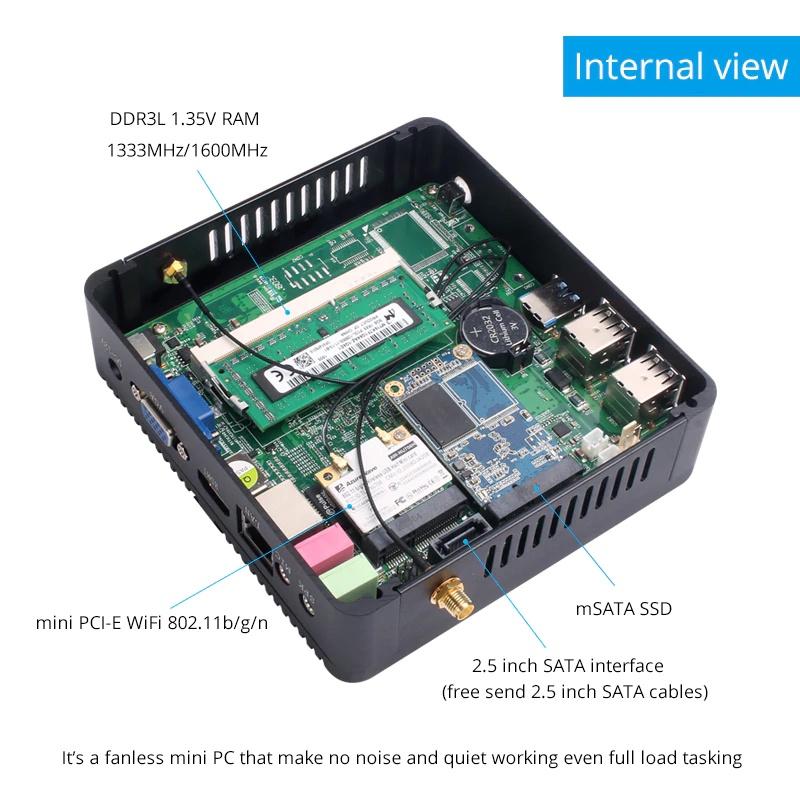 Мини-ПК Nuobi X30, Intel Celeron N2830, 4K HDMI (под сборку) NUOBI