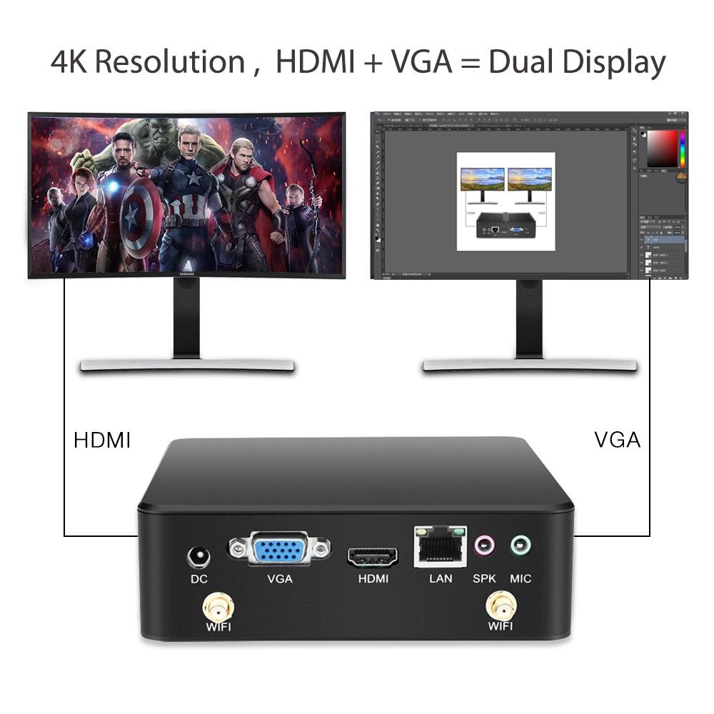 Мини-ПК Nuobi X35, Intel Celeron 2981U, 4K HDMI (под сборку) NUOBI