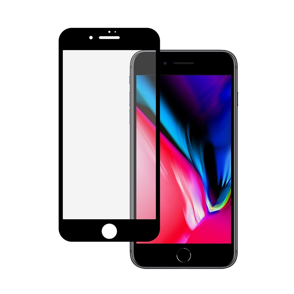 Защитное стекло HARDIZ Premium Tempered Glass для iPhone 8 Plus черное цена и фото
