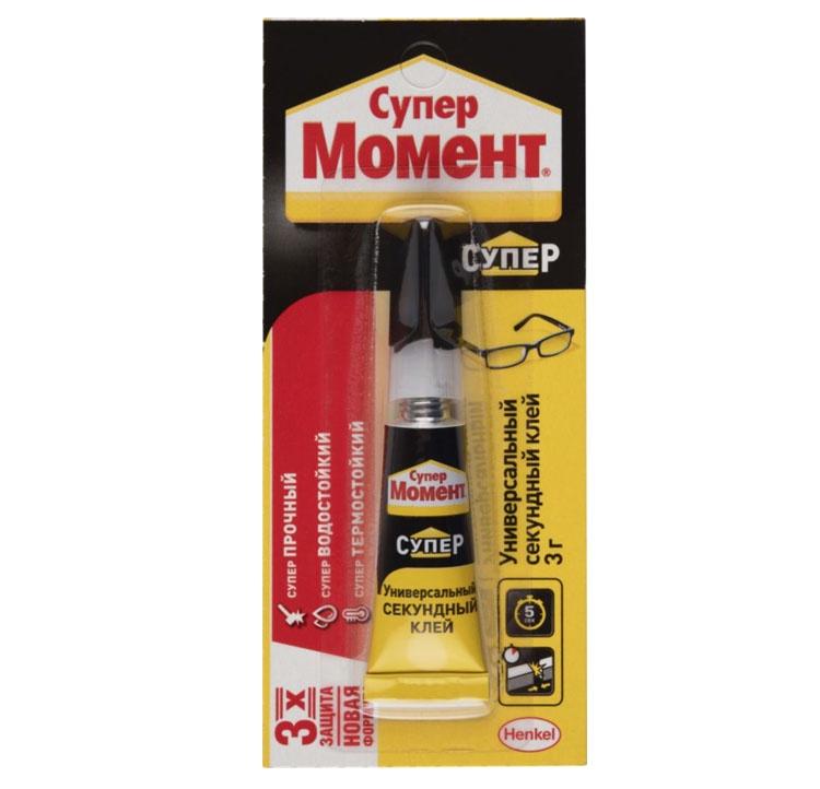 Клей Henkel Момент Супер секундный Универсальный 3г (термо и влагостокий) клей супер контакт 3г праймер 3 мл арт 12157