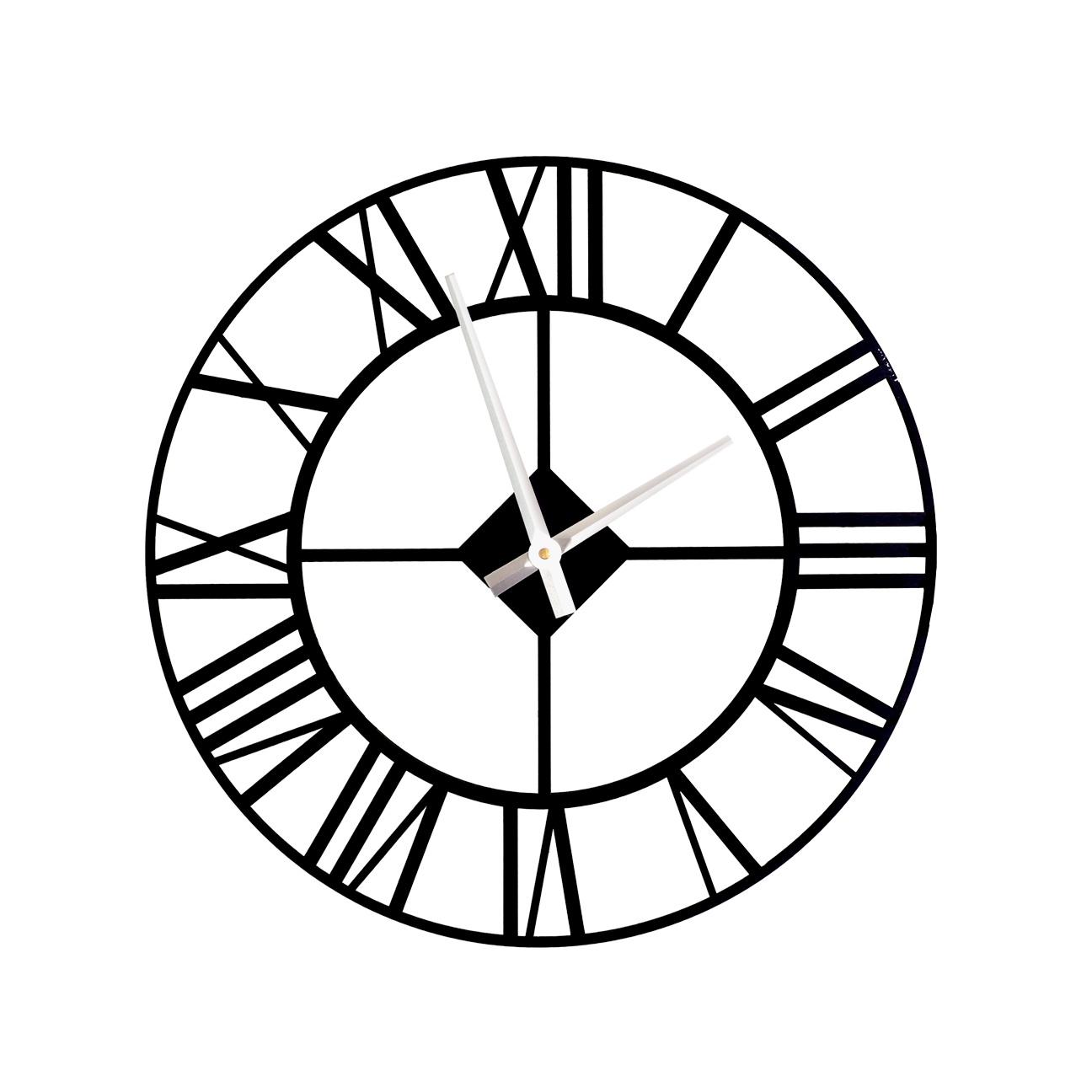 Настенные часы Лофт 00160 черные классические 50см большие