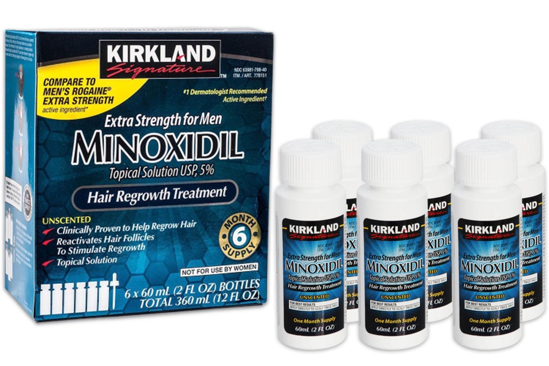 Миноксидил Kirkland 6 флаконов 5% для роста бороды миноксидил 15 процентов купить в аптеке