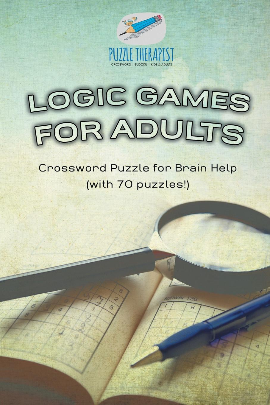 Puzzle Therapist Logic Games for Adults . Crossword Puzzle for Brain Help (with 70 puzzles!)