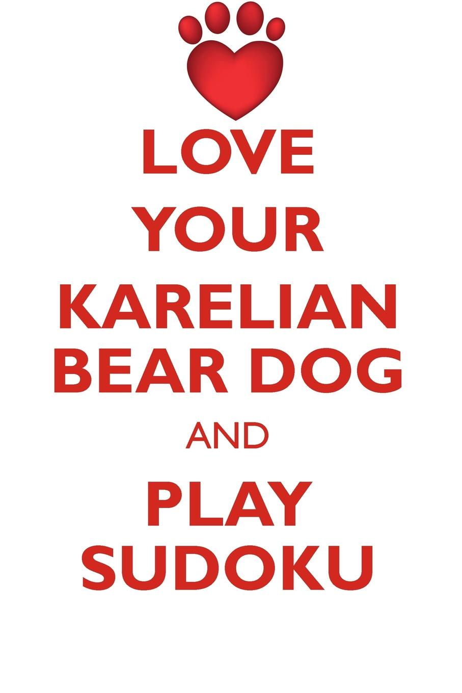 Loving Puzzles LOVE YOUR KARELIAN BEAR DOG AND PLAY SUDOKU KARELIAN BEAR DOG SUDOKU LEVEL 1 of 15