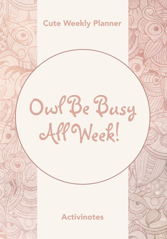 Activinotes Owl Be Busy All Week! Cute Weekly Planner week planner wall decal
