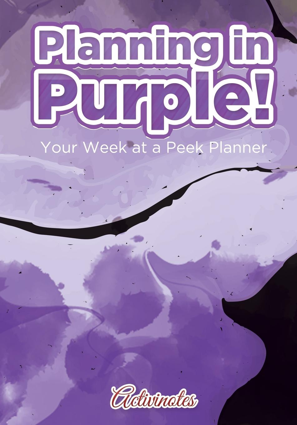 Activinotes Planning in Purple! Your Week at a Peek Planner week planner wall decal