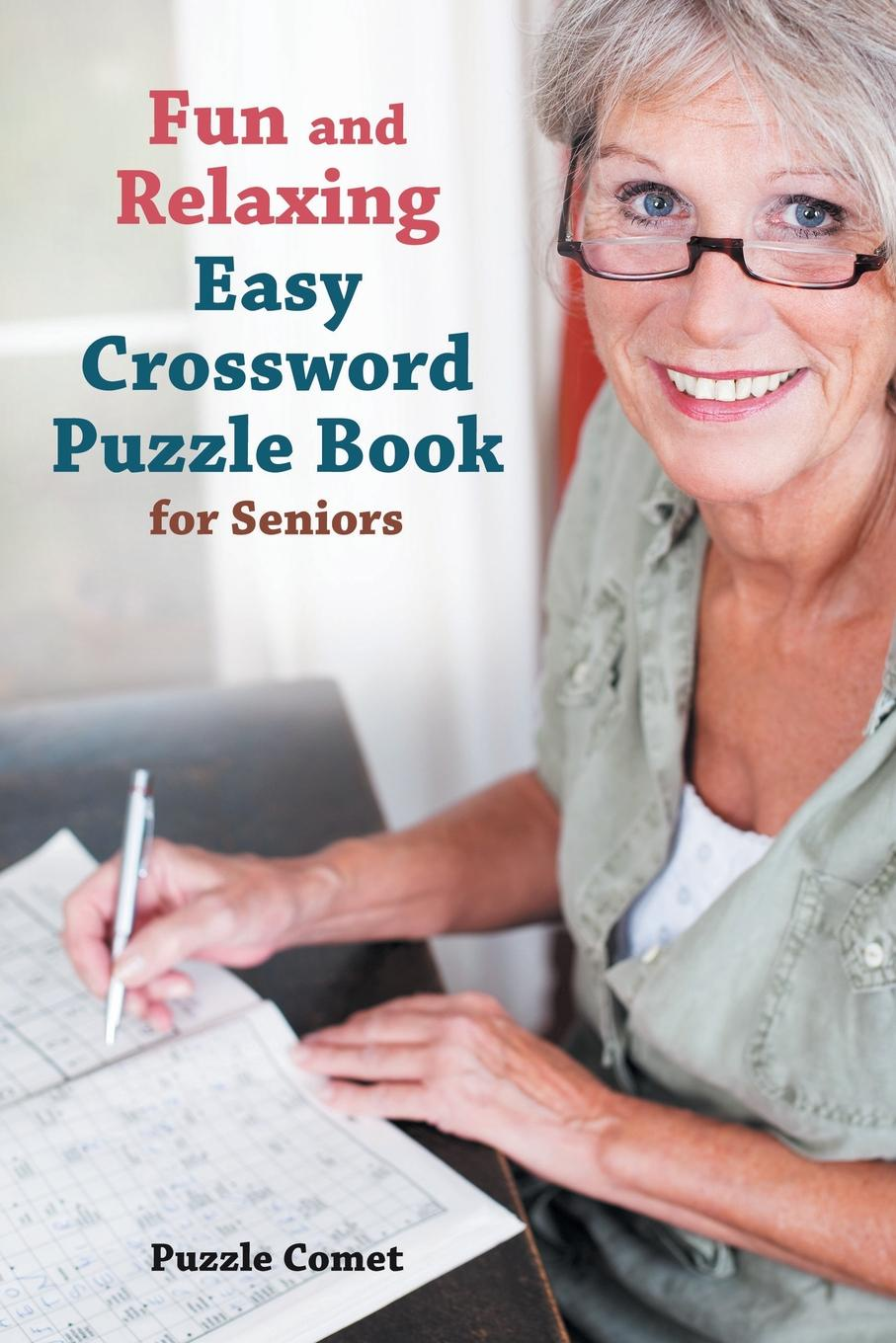 лучшая цена Puzzle Comet Fun and Relaxing Easy Crossword Puzzle Book for Seniors