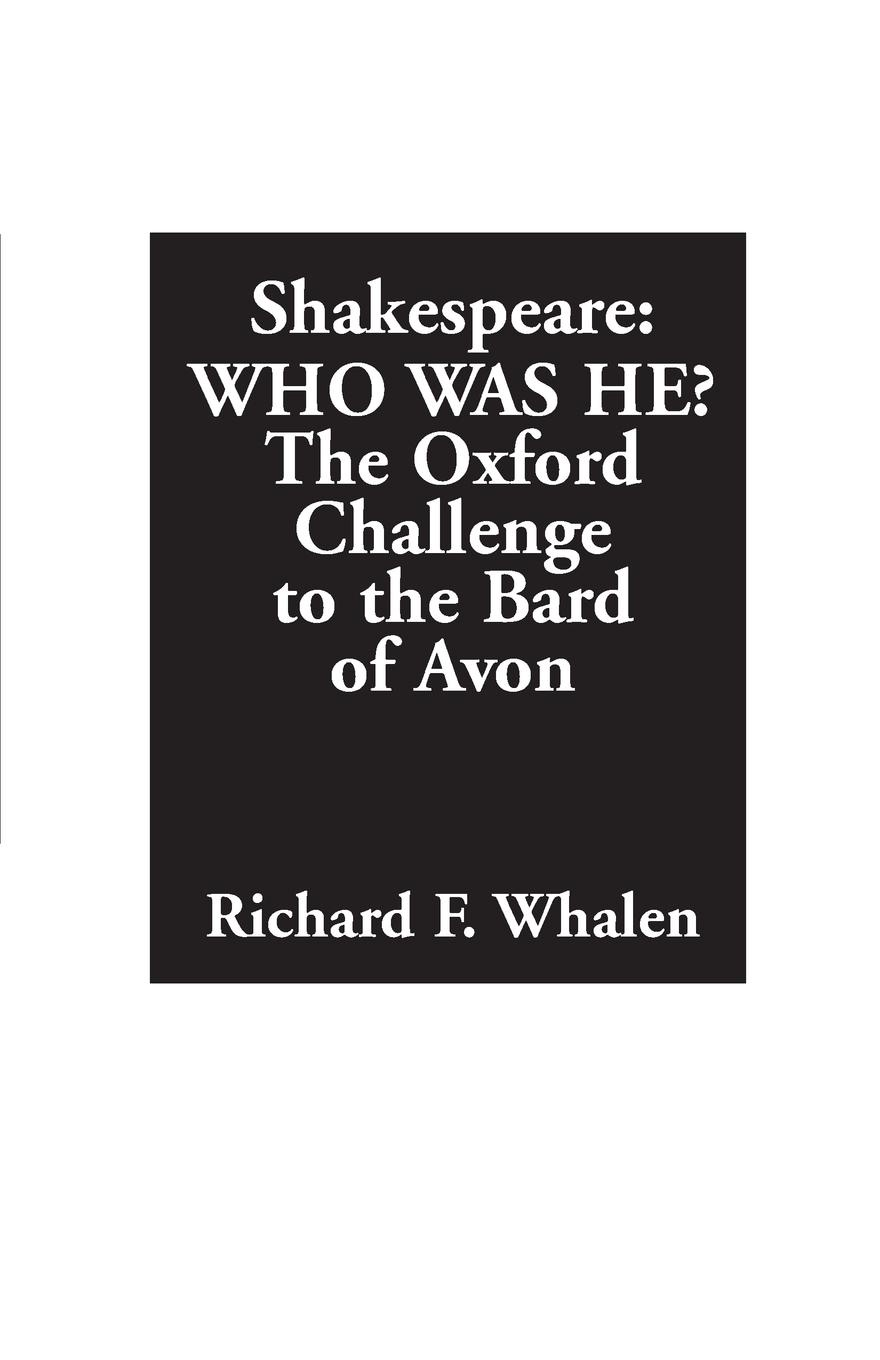 Richard Whalen Shakespeare--Who Was He? The Oxford Challenge to the Bard of Avon купальник avon