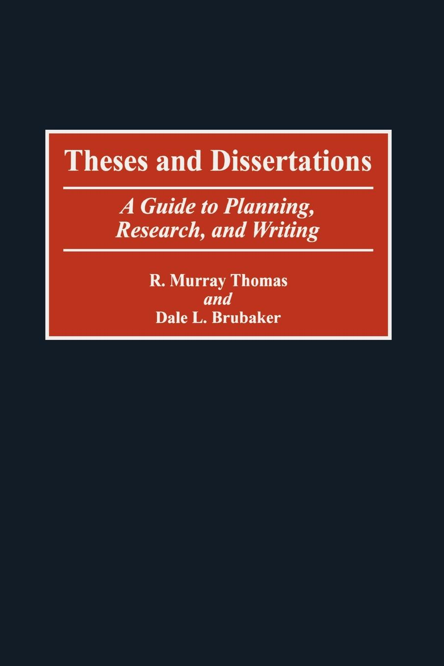 R. Thomas Theses and Dissertations. A Guide to Planning, Research, and Writing thomas egner customer oriented and efficient account planning
