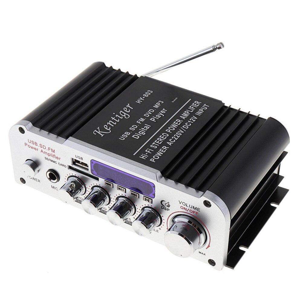 Kentiger HY803 Hi-Fi Стерео усилитель hy 502 hi fi цифровой автомобильный стерео усилитель мощности led звуковой режим аудио музыкальный плеер поддержка usb mp3 dvd sd fm