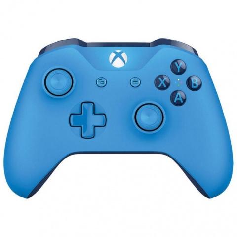 Геймпад Microsoft Xbox One Controller (синий) геймпад microsoft xbox one wireless controller gray green wl3 00061