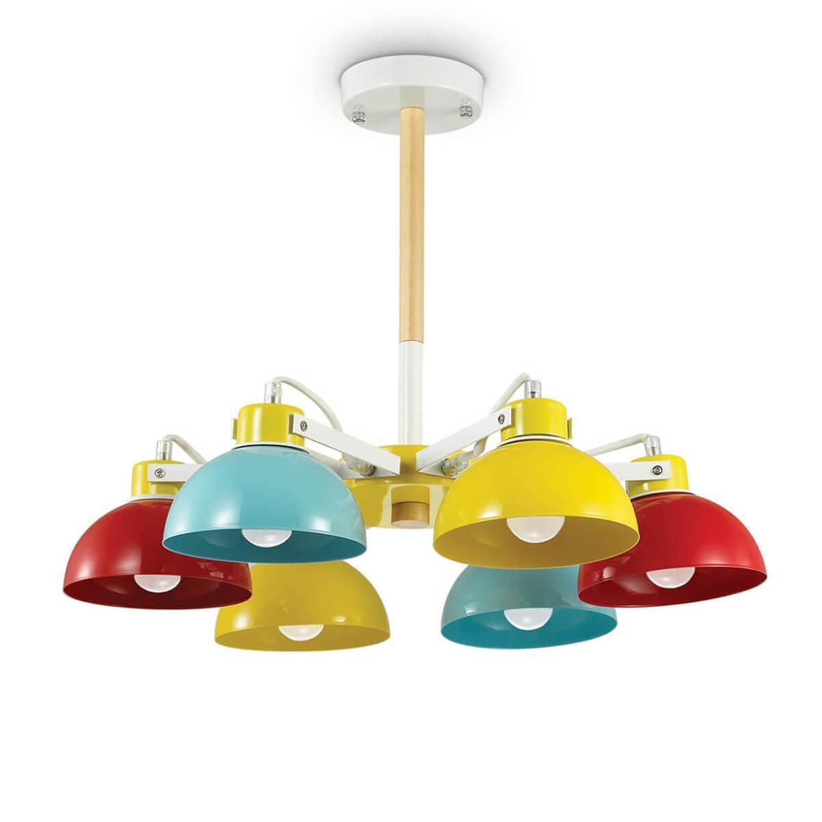 Потолочный светильник Ideal Lux Titti PL6, E27, 60 Вт ideal lux люстра ideal lux flora sp6