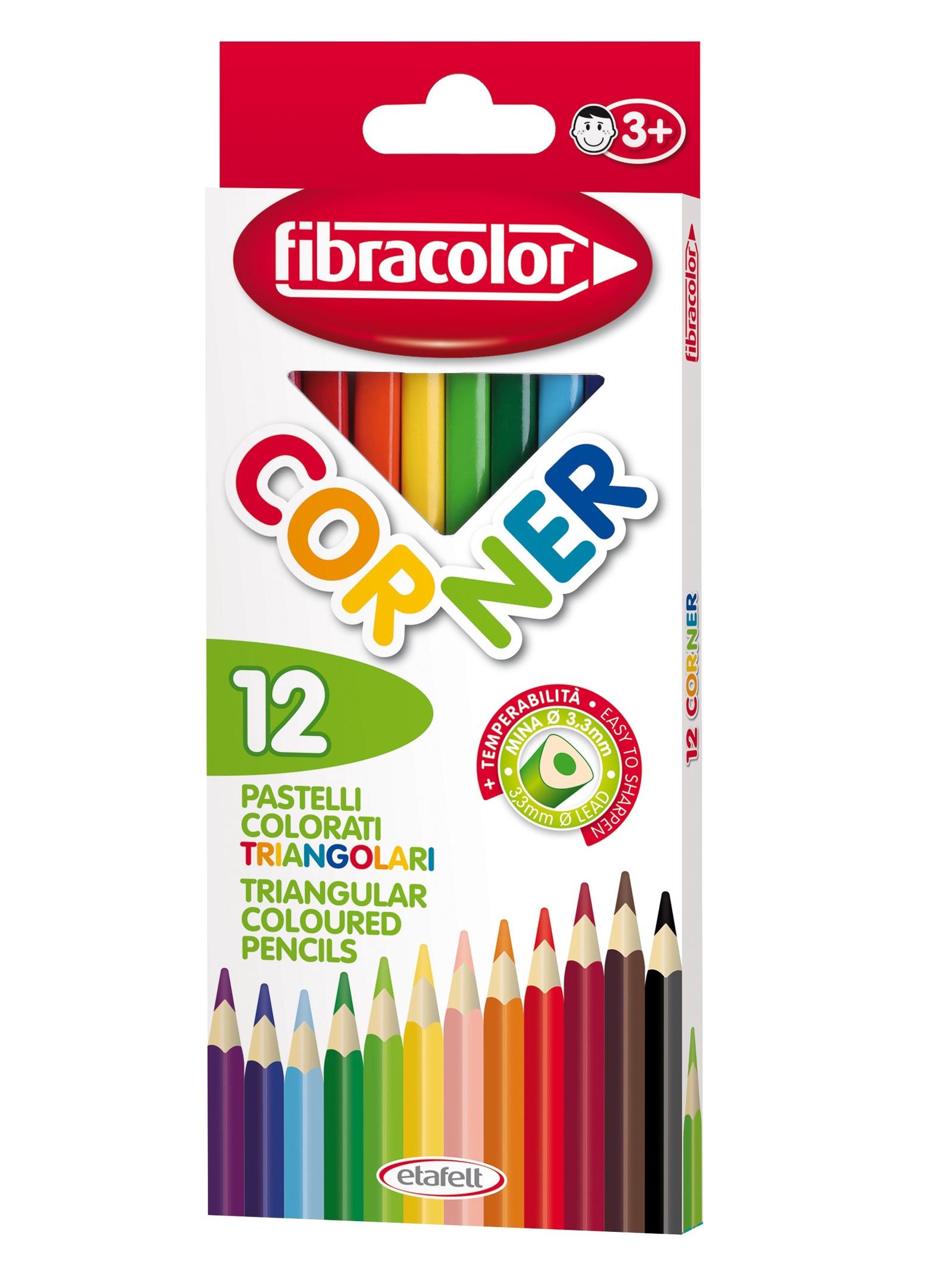 Набор треугольных карандашей 12 шт. набор восковых треугольных карандашей 15 цветов